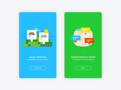 Intro Screens - GeGe App intro app mobile
