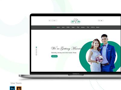 Wedding-Website-Design landing page ui ux web website minimal layout homepage wedding planner clean leafs reception bachelorette design tonik