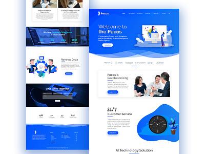 AI Technology Website Design uiux landing page visual design clean design software science tech uidesign prototype web design business