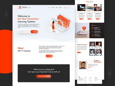 IT Institute Website Design technology tech education graphic design landing page design uiux ux design innovation it student learning it institute uidesign website