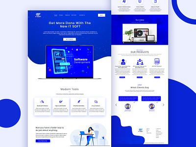 Software landing Page Design webdesign website web ui business ai landingpage website design uiux ui design softwaredesigner design technology webdev software