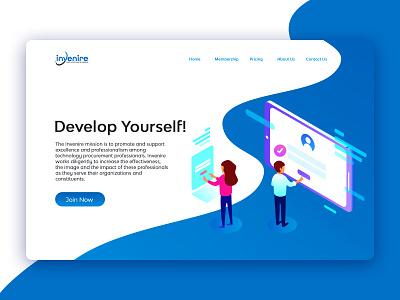 Landing Page Template ui design prototype