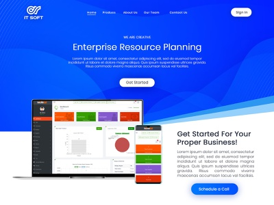 IT Soft (Software Product Page Design) ui designer graphic design webdesign software product software landing page website uiux uidesign design technews science business innovation tech
