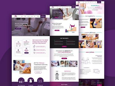Esthetic Website Design landing slimming skincare beauty treatment beauty service hair removal esthetic uiux web ui website webdesign