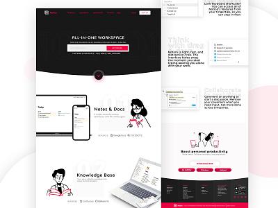 Notion Website ReDesign graphicdesign business studygram fashion success uidesign landingpage web