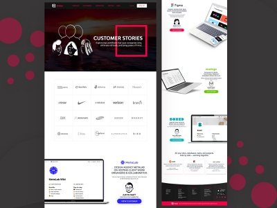 Notion customer website page ReDesign tool notes knitting sales understand empowering revision studynotes leave experiment chemistry tomorrow notes communication landingpage uiux ui