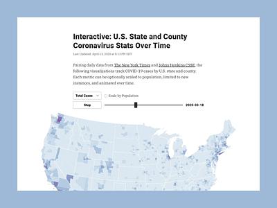 U.S. State and County Coronavirus Stats Over Time graph chart visualization new york data map coronavirus data viz dataviz