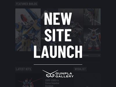 New Launch: Gunpla Gallery ✨ gundam gunpla gallery gunpla logo ui website animation envy labs florida orlando
