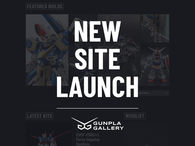 New Launch: Gunpla Gallery ✨ gundam gunpla gallery gunpla logo ui website animation envy labs florida orlando