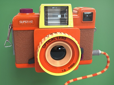 Babycam Dribbble finger industries 3d camera toy flash 3ds max lomography sheffield