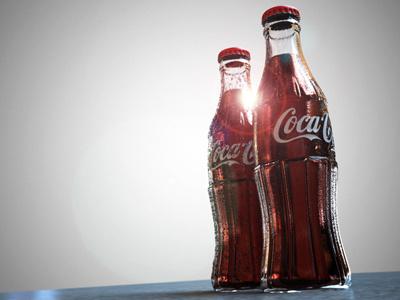 Norde CGI Coke bottles cgi norde finger industries 3d coke coca-cola