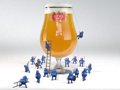 Beer Seige R&D © Finger Industries  beer cgi character design finger industries illustration