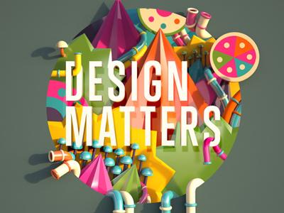Design Matters  finger industries 3d illustration logo design computer arts design matters