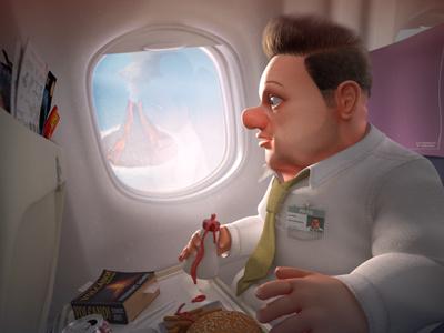 The Passenger  finger industries 3d 3ds max cg character design illustration