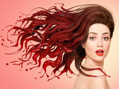 La perruque puissante finger industries design digital print photography cg paint beauty fashion hair