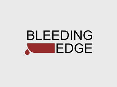 Bleeding Edge design minimal flat icon vector logo
