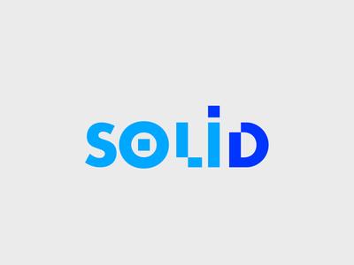 Solid web typography branding app vector minimal logo icon flat design