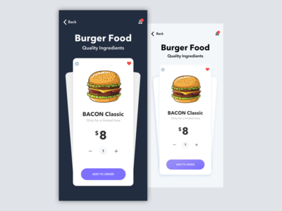 Food App - Home Concept ios app design ios ios app food app burger cook chef