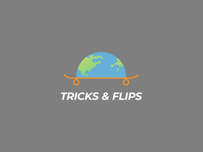 Tricks & Flips illustrator minimal illustration flat vector logo design branding