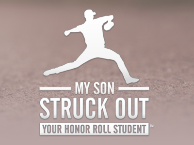 My Son Struck Out Your Honor Roll Student baseball sticker pitcher