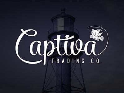 Captiva Trading Co. captiva fishing clothing logo fish lighthouse