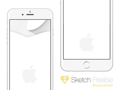 iPhone 6 & 6 Plus .sketch Freebie