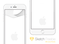 iPhone 6 & 6 Plus .sketch Freebie mockup mockups illustration freebie resources sketch free vector iphone 6 iphone 6 plus sketch file