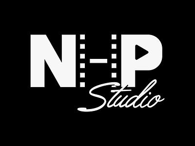 NHP Studio Logo negative space film strip logo identity filmmaking film branding