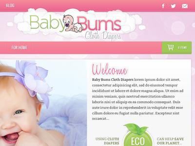 Baby Bums Site/Logo Concept