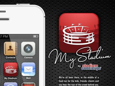 MyStadium App icon design logo