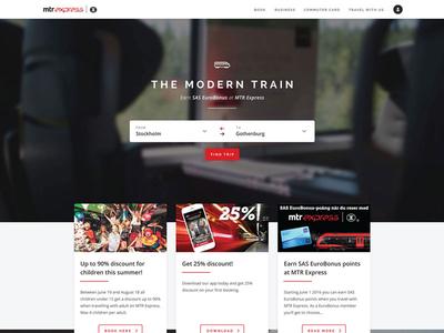 MTR Express website concept redesign re-design light simple clean user interface concept mtr express website design website web design
