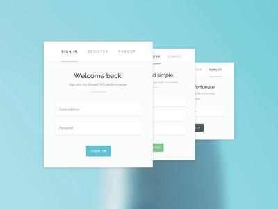 Authentication design practice web design graphic design form user interface design