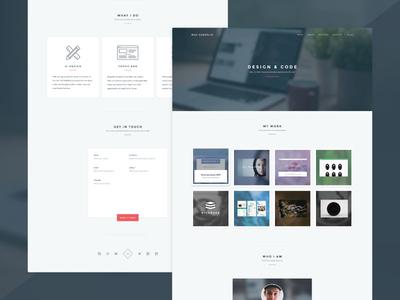 Personal portfolio developer designer website design web portfolio