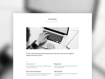 Personal website personal website web design design ux ui minimal layout page site webpage website portfolio