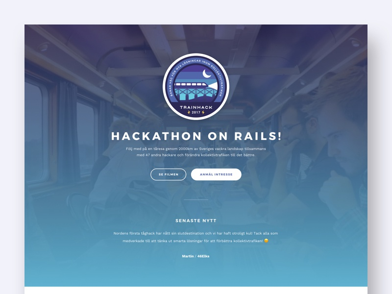 Trainhack web
