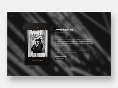 Book launch website layout clean simple promotion black dark web design website web reading books book