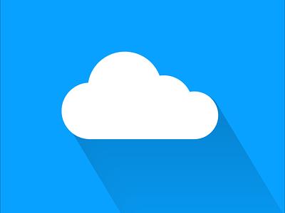 Weather Cloud beautiful clean cloud icon vector illustrator minimal illustration flat design