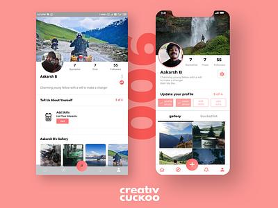 User Profile Redesign app illustrator ux ui dailyui design