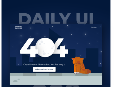 404 Page design typography illustrator illustration ui dailyui