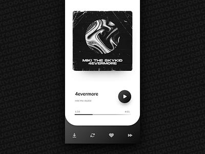 Music Player app web illustrator ux ui vector dailyui design