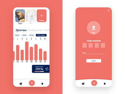 Dog controller App application app design mobile app mobile web ui ux app design