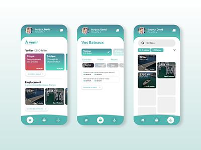 Boat manager app concept concept manager management app boat ux ui mobile app mobile design application app design app