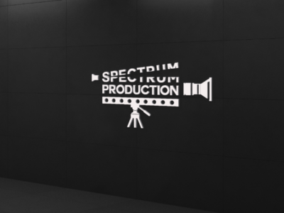 Designed a movie film production logo for practice graphicdesigner