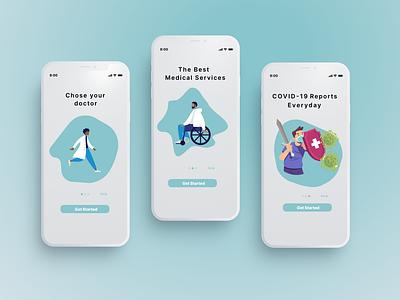 Medical App corona illustration ui medicine app medicine