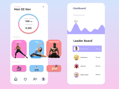 Workout App fitness colorful uxdesign workout app home workout