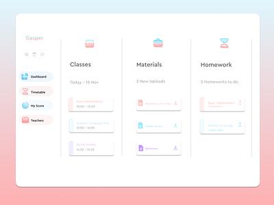 Learning Platform app platform dashboad colorful illustration ux ui