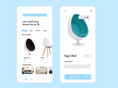 Furniture App typography dribbble color mobile web graphic design 2d logo branding design colorful ui ux illustration app
