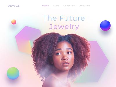 Jewelry Future minimalist clean web design website art jewelry future typography vector logo ui ux app 3 graphic design 3d branding design colorful illustration