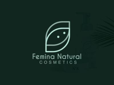 Femina Natural Logo Desgin business design cosmetics natural feminine branding typography minimalist minimal logo