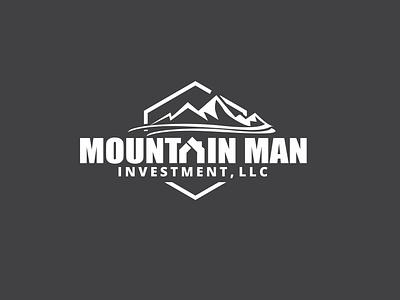 Mountain Man Logo Design mountain retro realestate illustration badge design business branding typography minimalist minimal logo